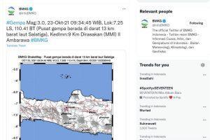 Gempa Di Kota Salatiga dan Ada 8 Kali Susulan